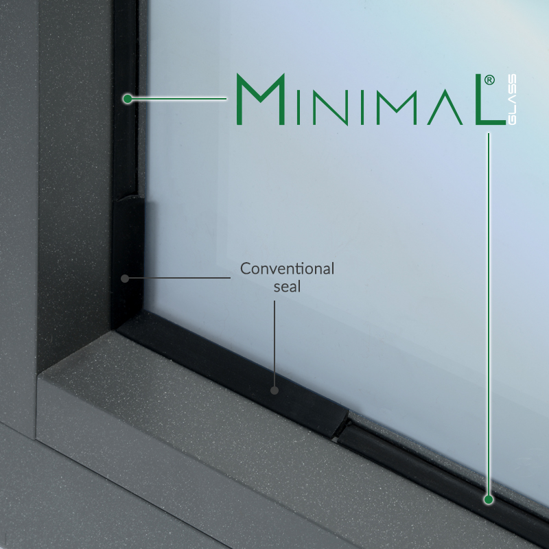 guarnizione minimal glass Profil Plastic