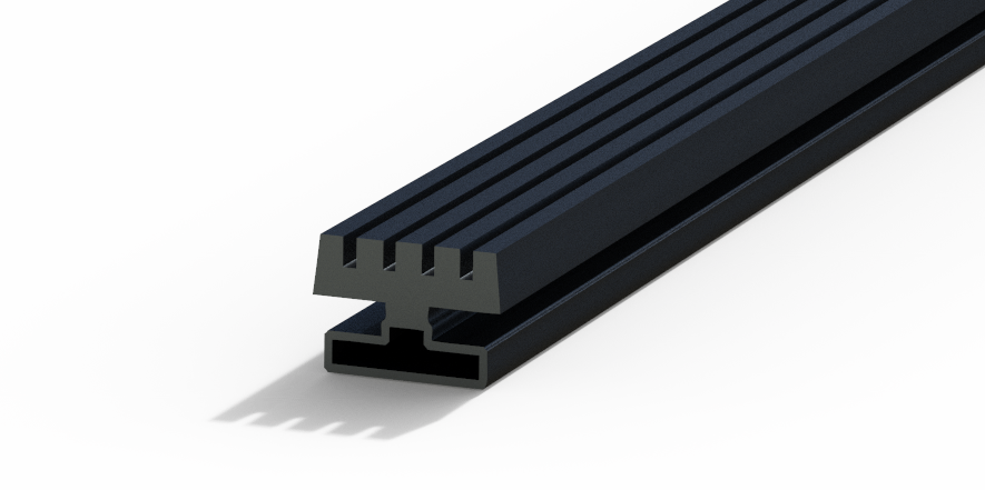 Profil plastic - ROLLING SHUTTER FOR GUIDE RAILS